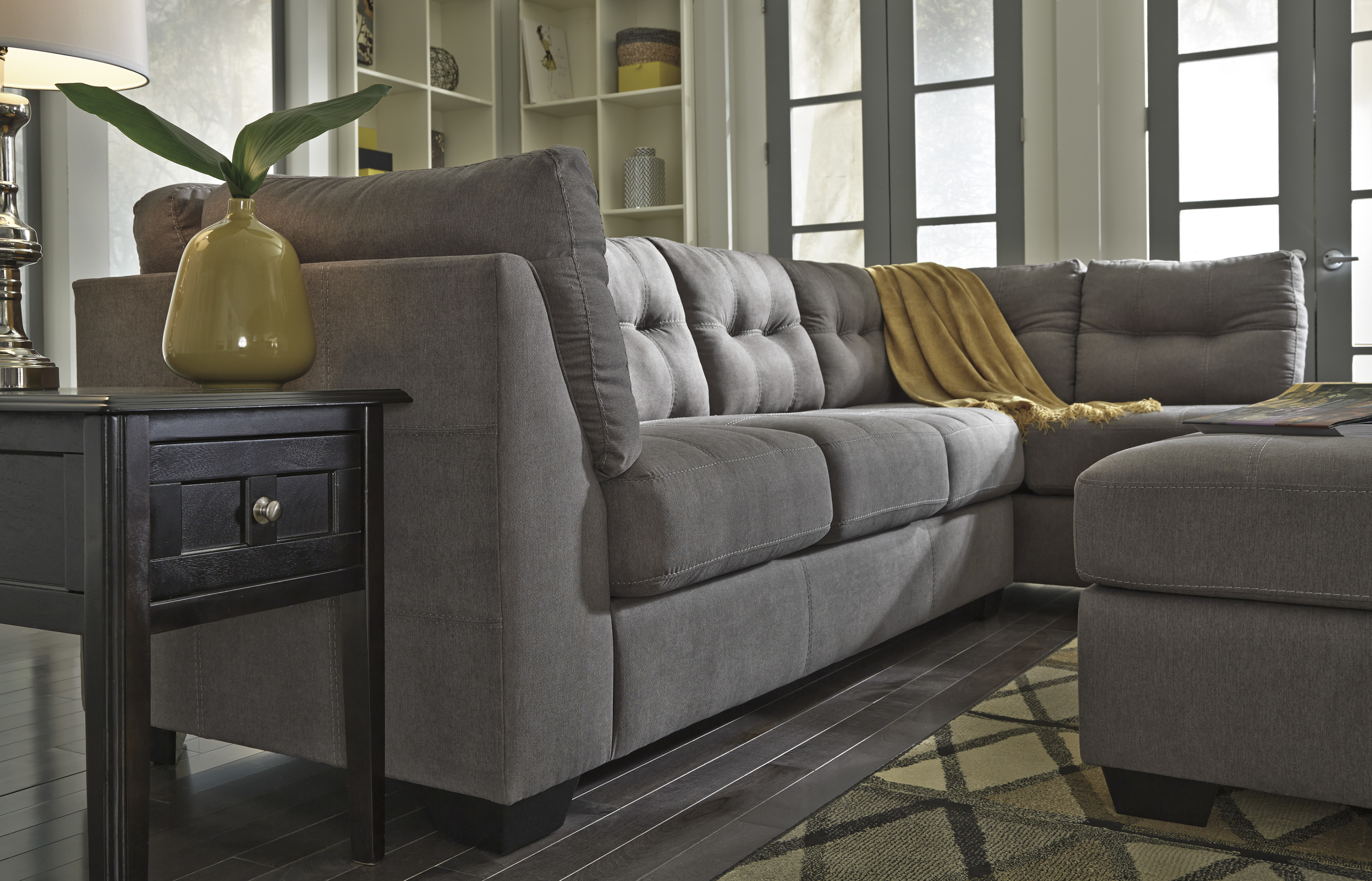 Ashley 452 Sectional Charcoal